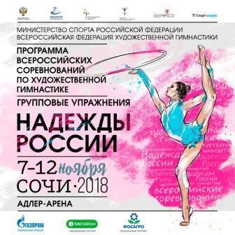 Всероссийские соревнования «Надежды России» по художественной гимнастике в групповых упражнениях