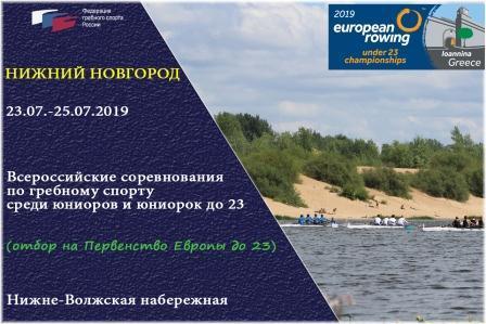 Всероссийские соревнования среди юниоров по академической гребле